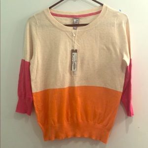 Tops - Color Block Sweater.